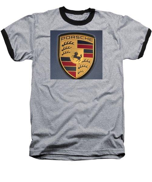 Porsche Emblem Baseball T-Shirt