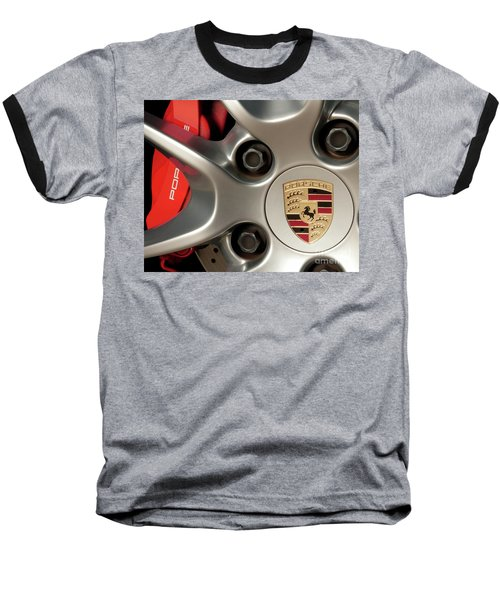 Porsche Wheel Detail #1 Baseball T-Shirt