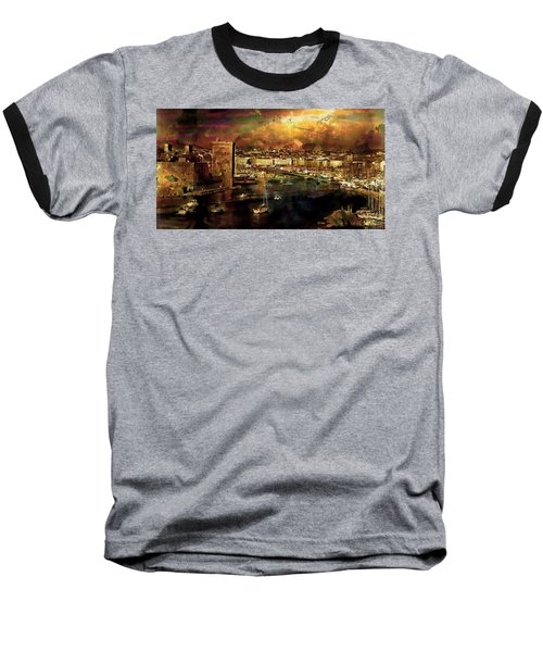 The Old Port Of Marseille Baseball T-Shirt