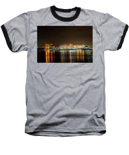 Port Of Vancouver Bc At Night Baseball T-Shirt