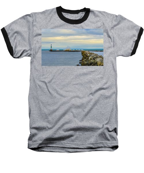 Baseball T-Shirt featuring the photograph Port Washington Light 1 by Deborah Smolinske