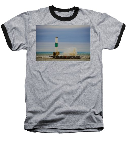 Baseball T-Shirt featuring the photograph Port Washington Light 2 by Deborah Smolinske