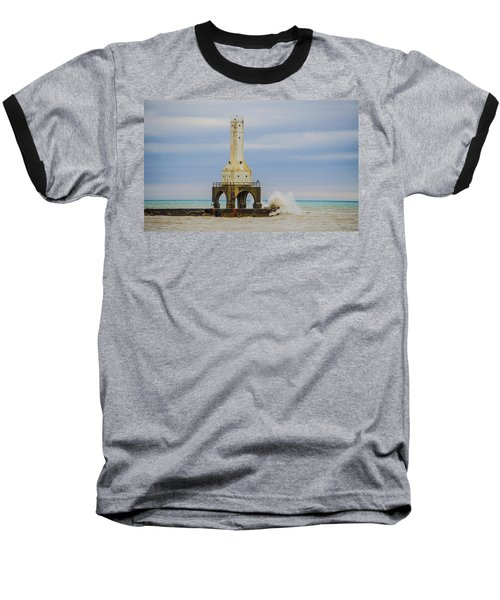 Baseball T-Shirt featuring the photograph Port Washington Light 3 by Deborah Smolinske