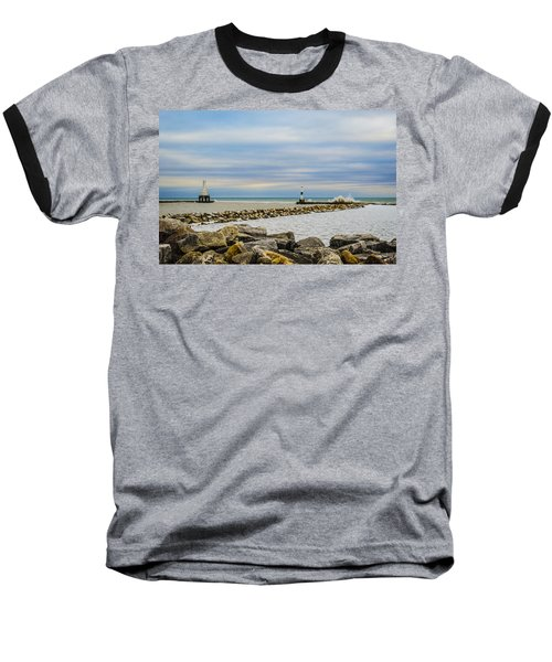Baseball T-Shirt featuring the photograph Port Washington Light 5 by Deborah Smolinske