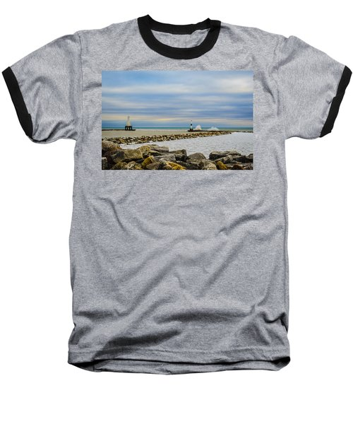 Baseball T-Shirt featuring the photograph Port Washington Light 6 by Deborah Smolinske