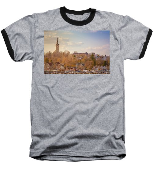 Port Washington Skyline Baseball T-Shirt