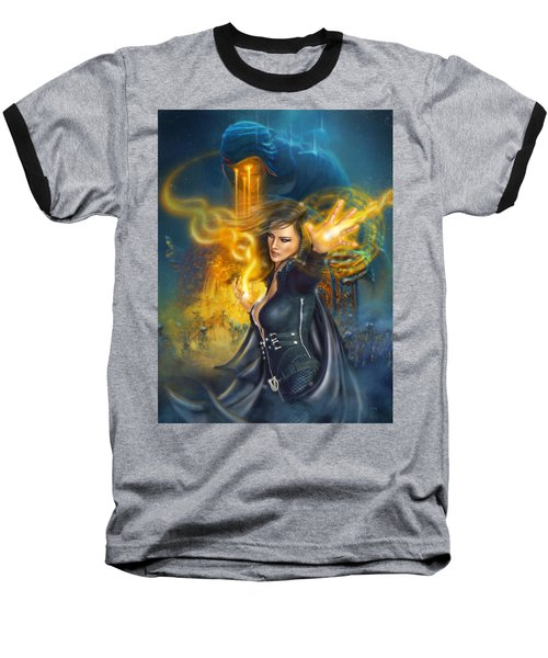 Portal Magician Baseball T-Shirt