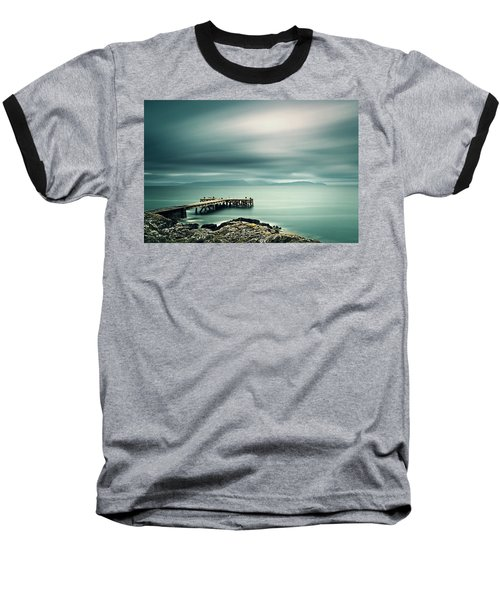 Portencross Pier Baseball T-Shirt