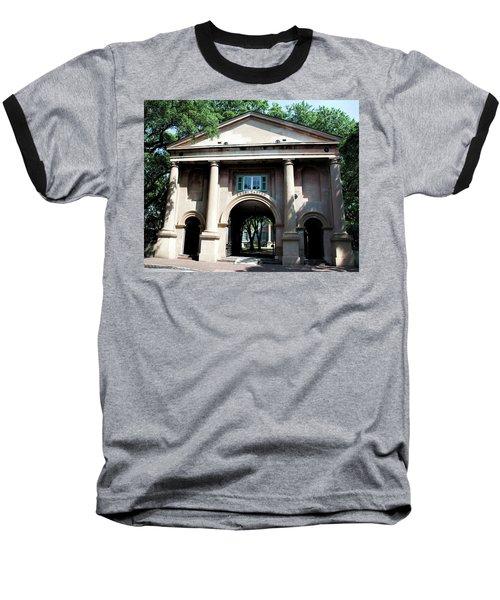 Porter's Lodge Baseball T-Shirt by Ed Waldrop
