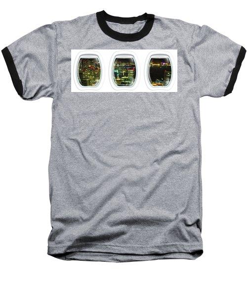 Porthole Frame On Tokyo Bay Area Baseball T-Shirt