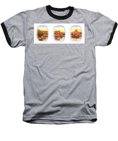 Porthole Windows On Rome Baseball T-Shirt