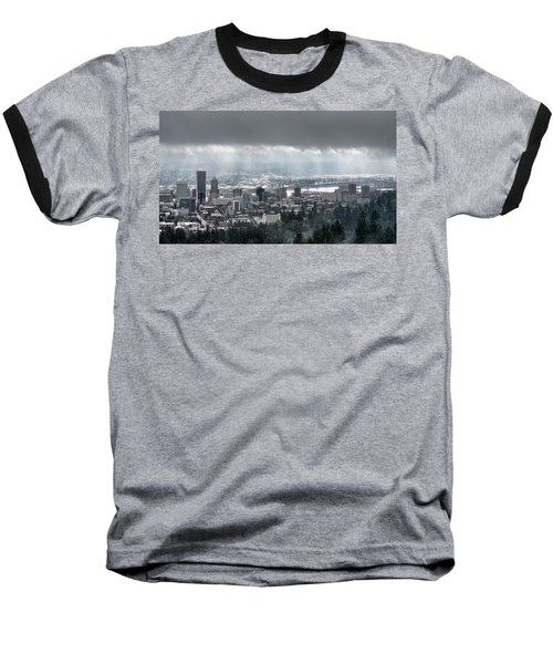 Portland After A Morning Rain Baseball T-Shirt