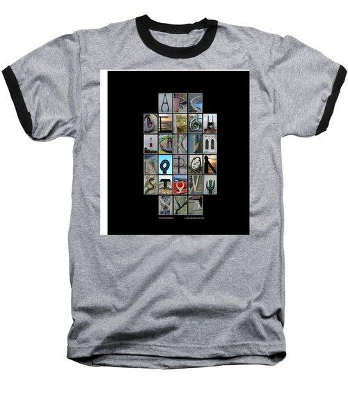 Portland Alphabet Baseball T-Shirt