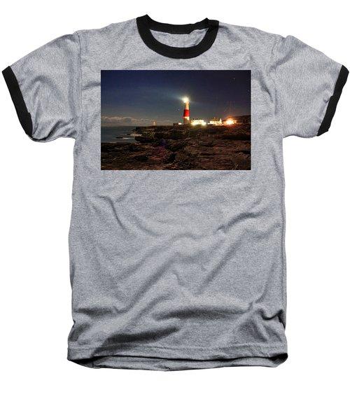 Portland Bill Lighthouse Baseball T-Shirt