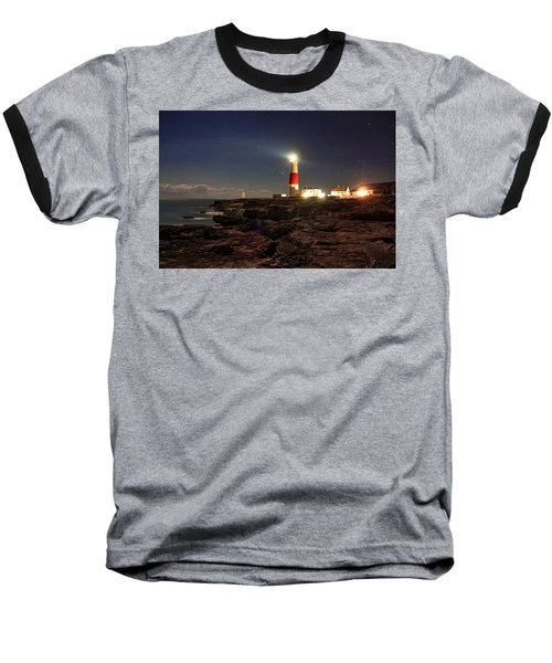 Portland Bill Lighthouse Baseball T-Shirt