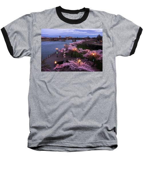 Portland Cherry Blossoms Baseball T-Shirt