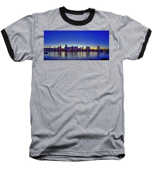 Portland Cityscape Baseball T-Shirt