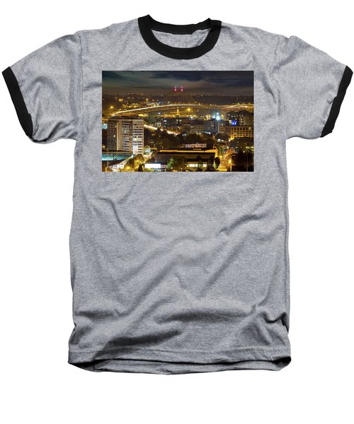 Portland Fremont Bridge Light Trails At Night Baseball T-Shirt