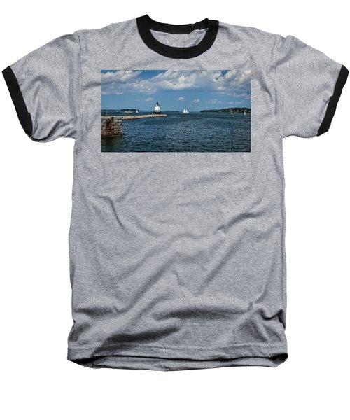 Portland Harbor, Maine Baseball T-Shirt