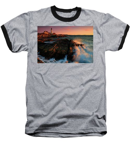 Baseball T-Shirt featuring the photograph Portland Head First Light  by Emmanuel Panagiotakis