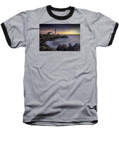 Portland Head Light Baseball T-Shirt by Fred LeBlanc