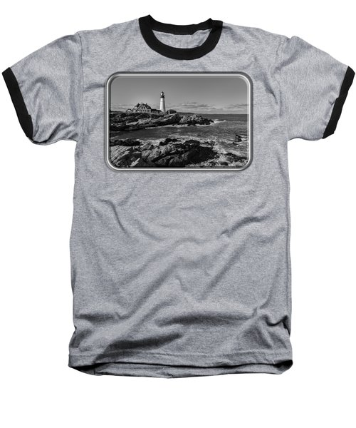 Portland Head Light No.34 Baseball T-Shirt by Mark Myhaver