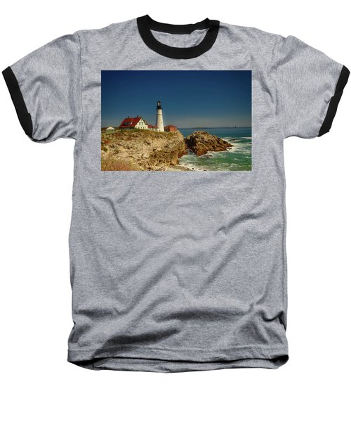 Portland Head Lighthouse 2 Baseball T-Shirt by Sherman Perry