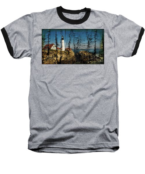 Portland Head Lighthouse 5 Baseball T-Shirt by Sherman Perry