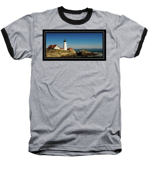 Portland Head Lighthouse 7 Baseball T-Shirt by Sherman Perry
