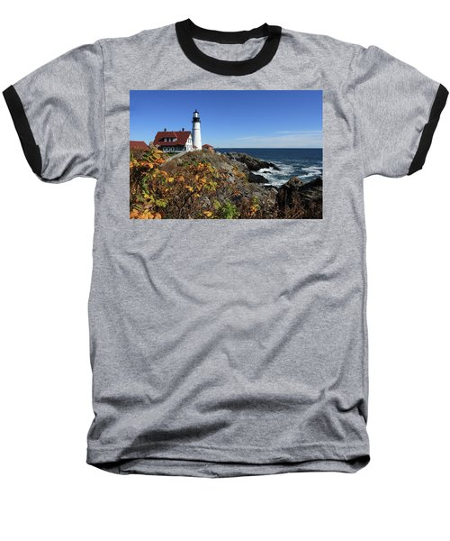 Portland Head Lighthouse In The Fall Baseball T-Shirt
