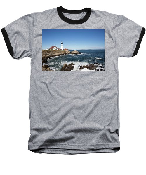 Portland Head Lighthouse Maine Baseball T-Shirt