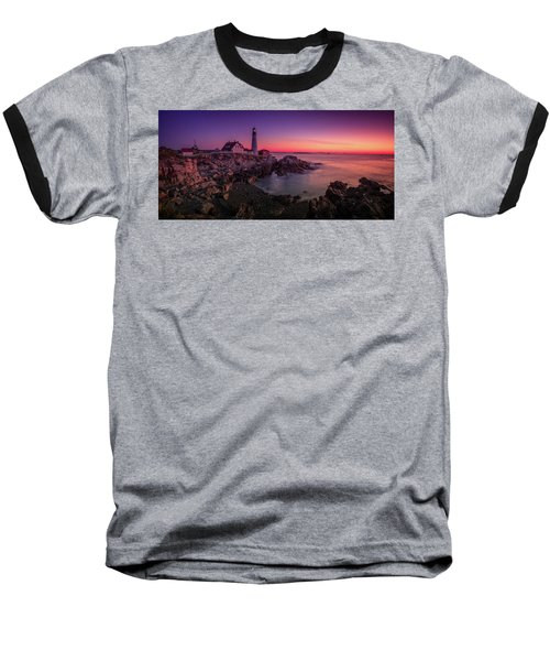 Baseball T-Shirt featuring the photograph Portland Head Lighthouse Sunrise  by Emmanuel Panagiotakis
