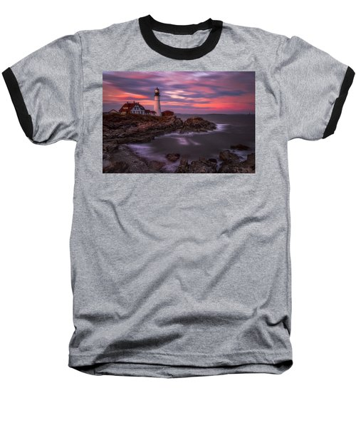 Portland Head Sunset Baseball T-Shirt