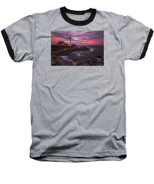 Portland Head Sunset Baseball T-Shirt