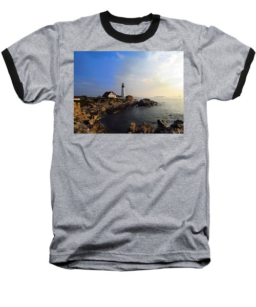 Portland Headlight Morning Glow Baseball T-Shirt