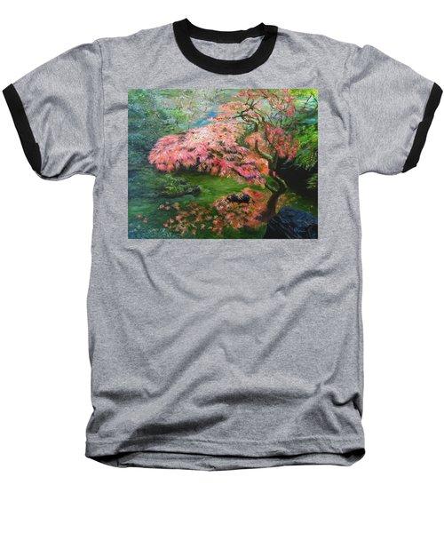 Portland Japanese Maple Baseball T-Shirt by LaVonne Hand