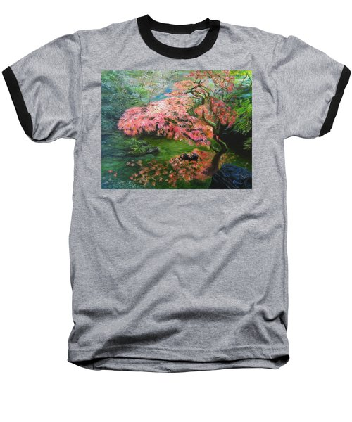 Portland Japanese Maple Baseball T-Shirt