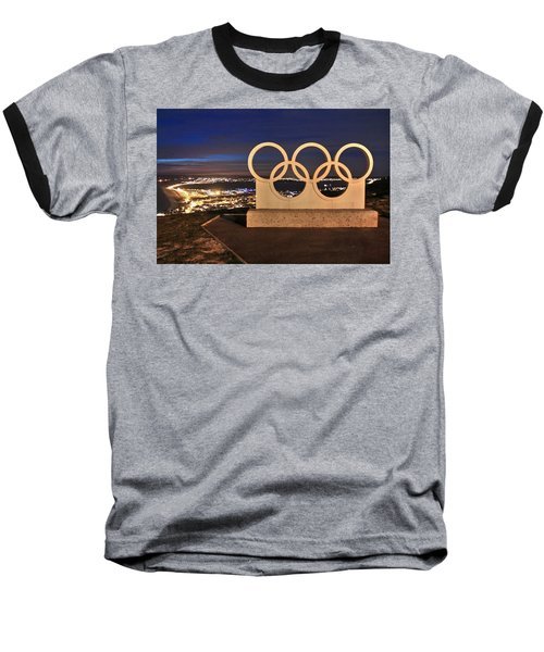 Portland Olympic Rings Baseball T-Shirt