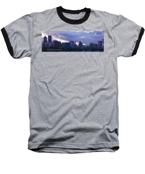 Baseball T-Shirt featuring the photograph Portland Oregon Panorama by Jonathan Davison