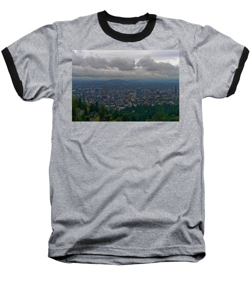Baseball T-Shirt featuring the photograph Portland Overlook by Jonathan Davison