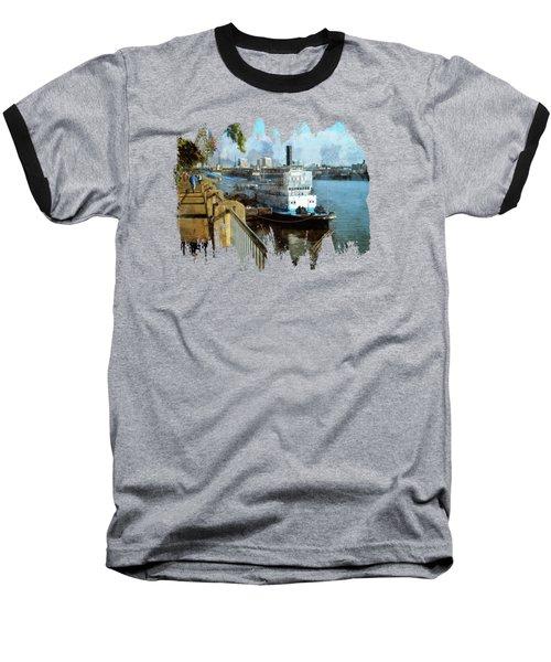 Portland Sunday Walk Baseball T-Shirt by Thom Zehrfeld