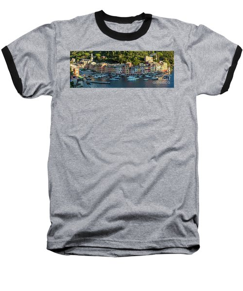 Baseball T-Shirt featuring the photograph Portofino Morning Panoramic II by Brian Jannsen