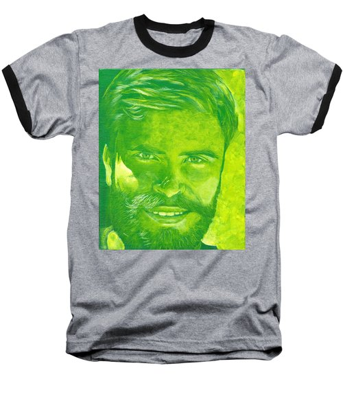 Portrait In Green Baseball T-Shirt