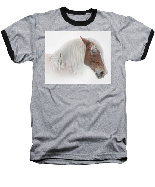 Portrait Of A Belgian Horse Baseball T-Shirt