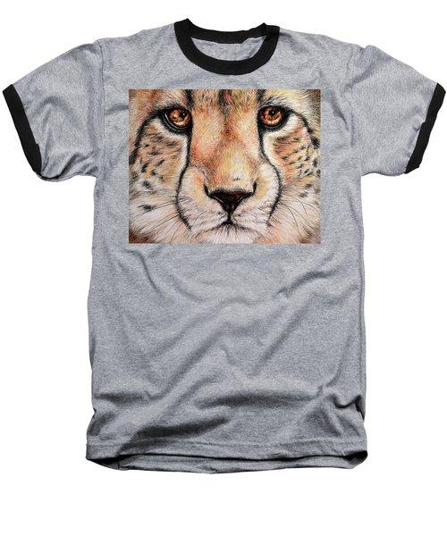 Portrait Of A Cheetah Baseball T-Shirt by Heidi Kriel