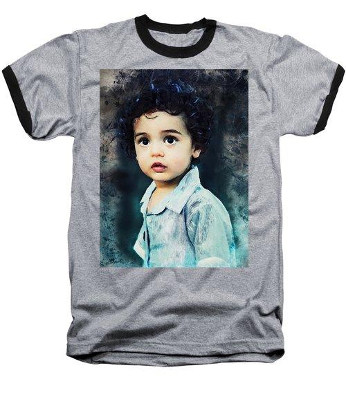 Portrait Of A Child Baseball T-Shirt