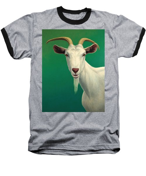 Portrait Of A Goat Baseball T-Shirt by James W Johnson