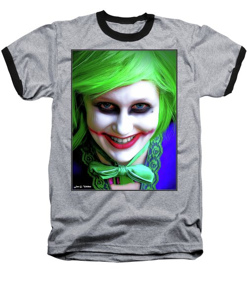 Portrait Of A Joker Baseball T-Shirt