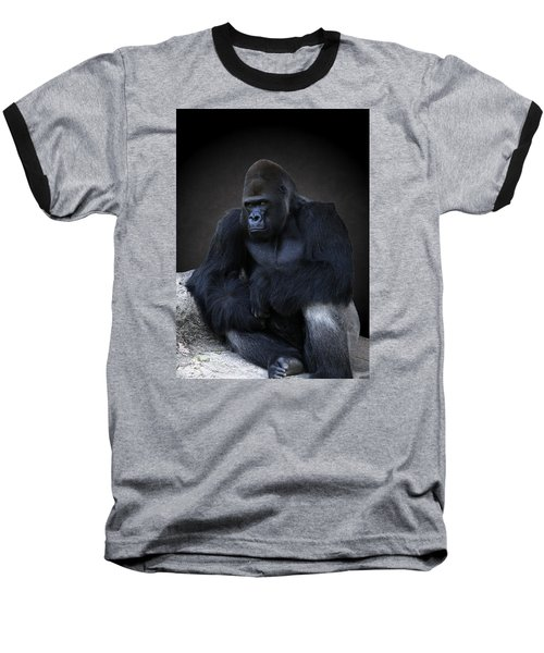 Portrait Of A Male Gorilla Baseball T-Shirt