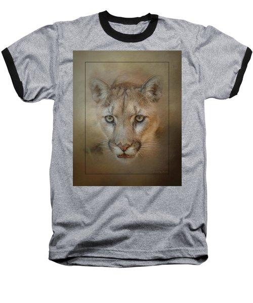 Portrait Of A Mountain Lion Baseball T-Shirt